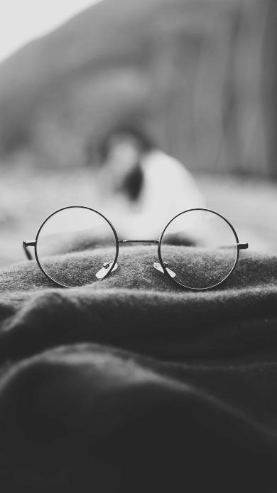 眼镜 静物 黑白 文艺