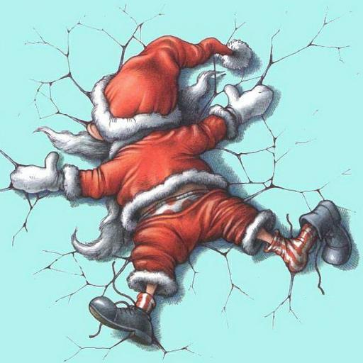 圣诞老人 圣诞节 撞地