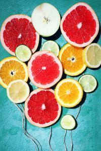 水果 橘子 葡萄柚 色彩 创意