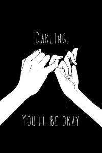 拉钩 爱情 承诺 黑色 you'll be okay