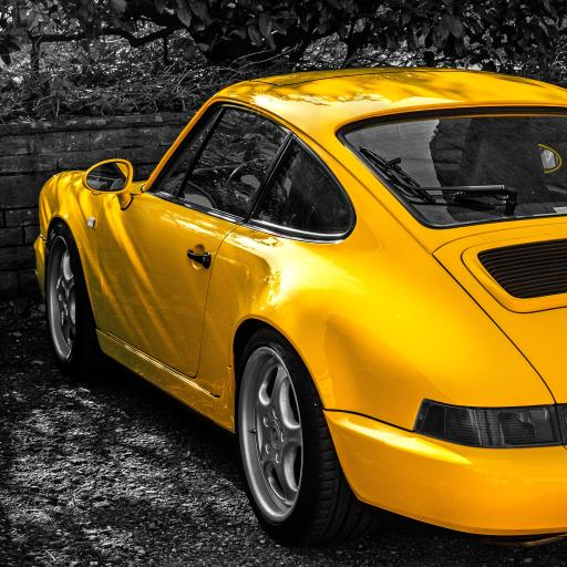 保时捷 911 跑车 黄色 flitzer 速度