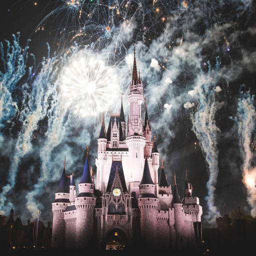 迪士尼 节日 烟花 城堡 建筑