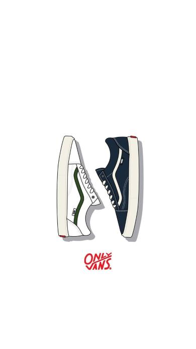 only板鞋 vans板鞋 手绘