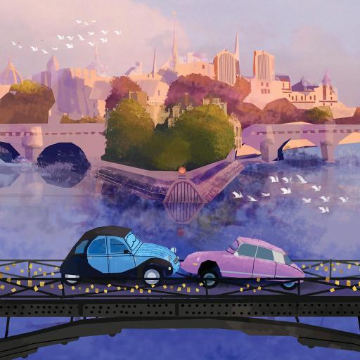 插画 绘画 手绘 汽车