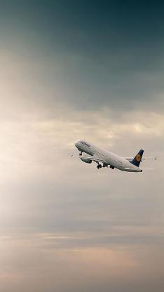飞机 天空 白云