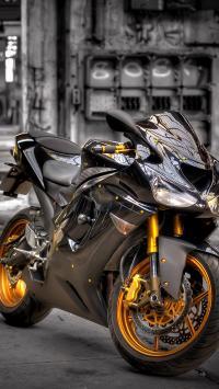 川崎摩托车 黑色 日本 酷 机车