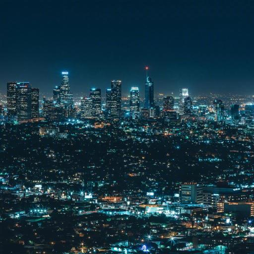 城市 夜景 灯光 繁华 都市 建筑