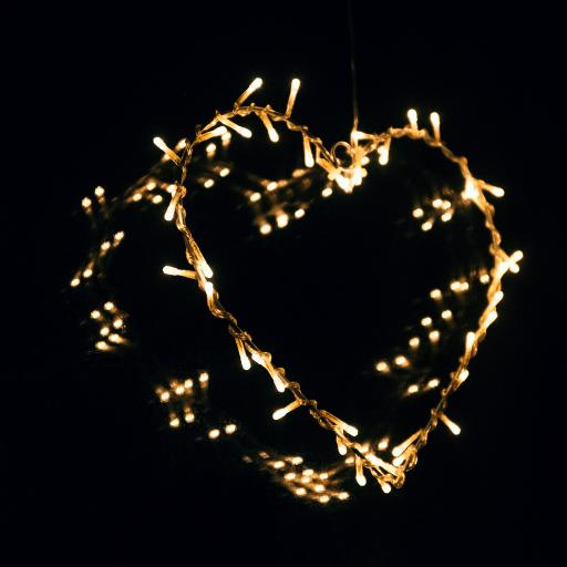 爱心 爱情 灯光 黑色