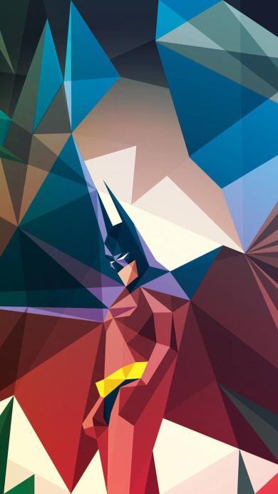 蝙蝠侠 几何 电影人物 创意设计