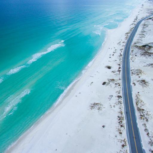 海岸线 大海 海边公路 蔚蓝大海