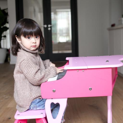哈琳 可爱 粉色小钢琴