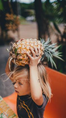 萌娃 小美女 菠萝