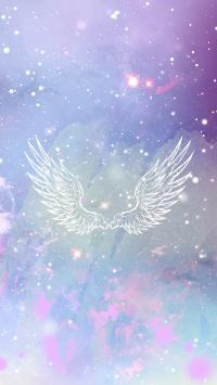 翅膀 梦幻 浪漫 渐变 星空 紫色