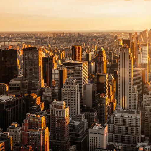 纽约 城市 建筑 高楼大厦 阳光 都市 繁华