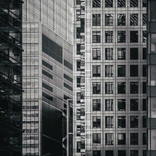 建筑 楼 商务 黑白 城市 高楼大厦 玻璃幕墙