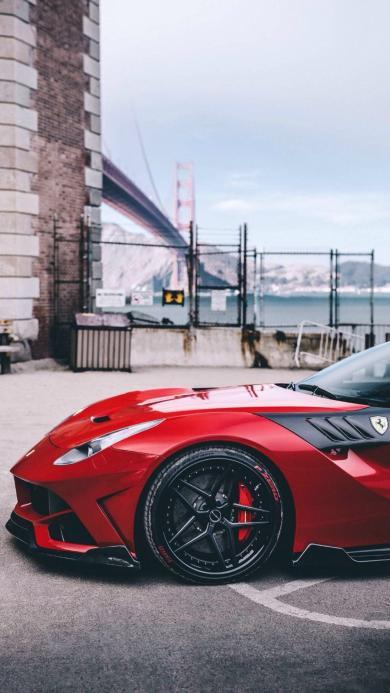 法拉利 超跑 跑车 红色 速度 赛车 酷