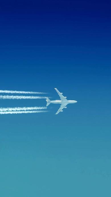 飞机 飞行 航空 天空 蓝色 烟雾