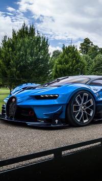 布加迪 超跑 跑车 奢侈品 速度 概念赛车 蓝色