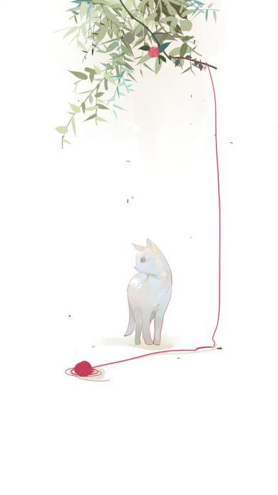 插画 创意 猫咪 手绘