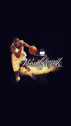拉塞尔·威斯布鲁克 篮球 NBA 运动员 美国 威少42三双
