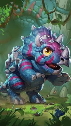 炉石传说新游戏原画 小怪兽