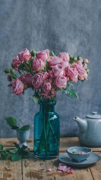 植物 文艺小清新 鲜花 花瓶
