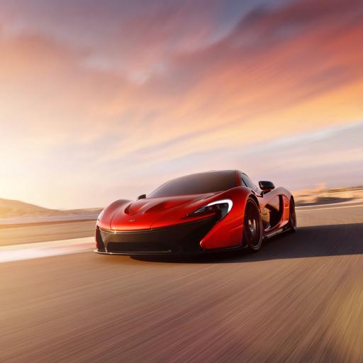 迈凯伦McLaren 超跑 酷炫 红色 速度