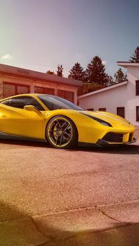法拉利 跑车 黄色 速度 超跑