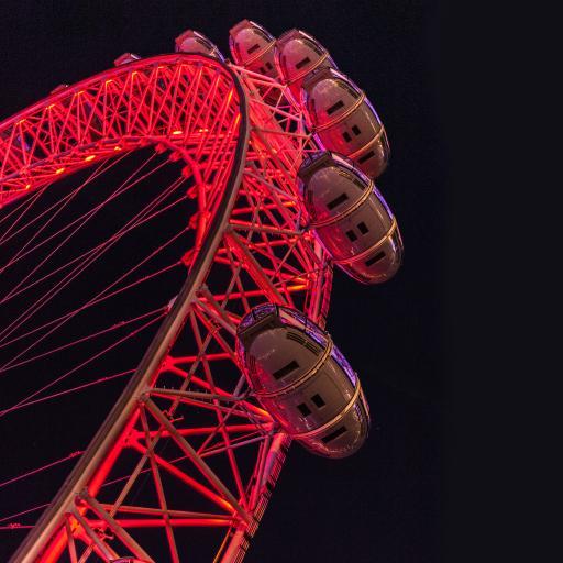 摩天轮 唯美 灯光 红 灯光