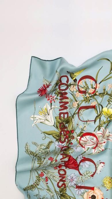 GUCCI 奢侈品 丝巾 刺绣 品牌 时尚