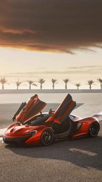 迈凯伦McLaren 超跑 酷炫 红色 自动门 速度