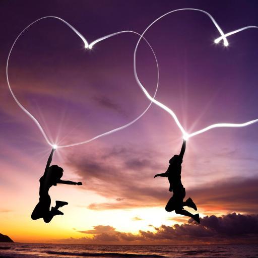 爱心 心形 创意 情侣