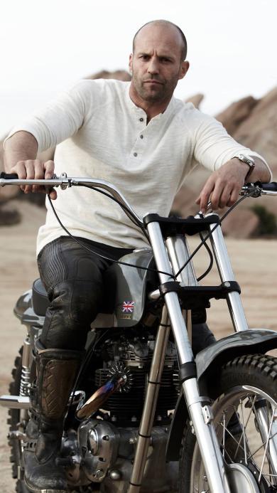 杰森·斯坦森 硬汉 欧美 演员 明星 运动员 机车