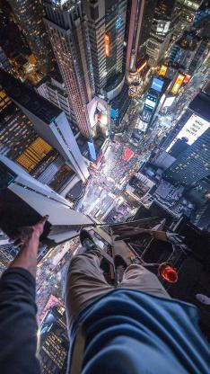 高空 俯视 刺激 极限 城市 建筑