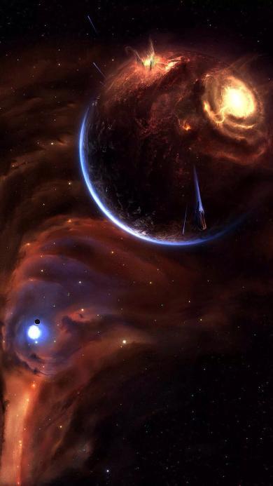 星空 宇宙 唯美 梦幻 星球 光 太空