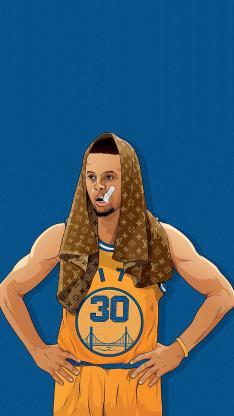 库里 NBA 篮球 运动 球星 手绘