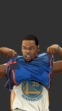 凯文·杜兰特 NBA 篮球 运动员 手绘