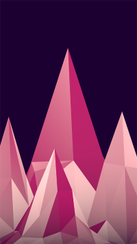 粉色三角形 苹果壁纸