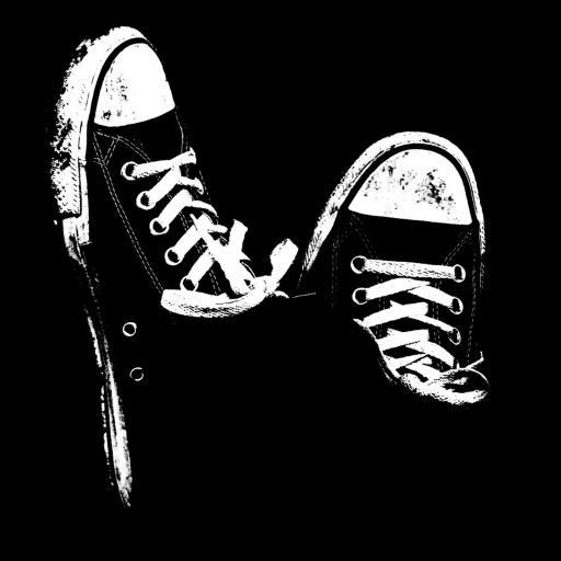 帆布鞋 球鞋 创意 黑白