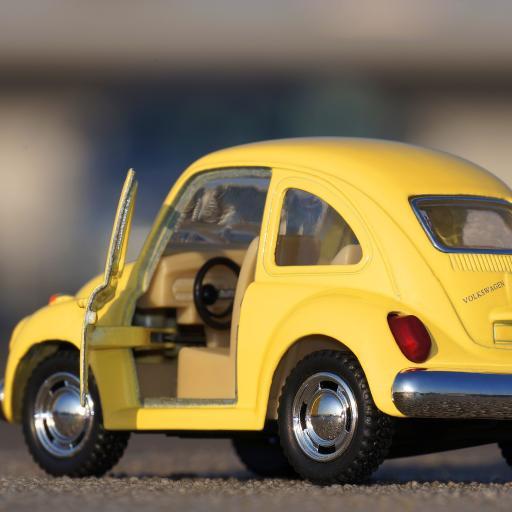 甲虫明亮汽车 经典 颜色 玩具车 黄色