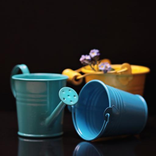 植物浇水桶 蓝色 绿色