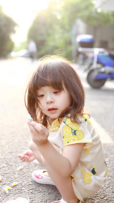 哈琳 萌娃 旗袍 可爱 气质
