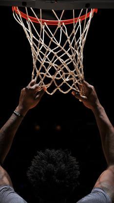 篮筐 球框 篮球 运动 男 背影 网