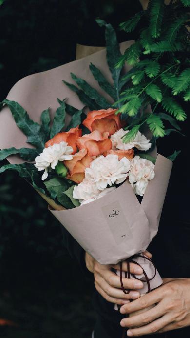 花束 鲜花 盛开 玫瑰 包装