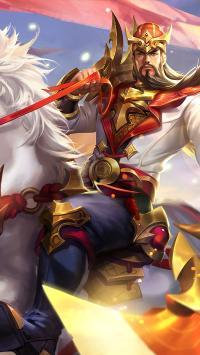 王者荣耀 关羽 白马 手游 龙腾万里 人物 角色
