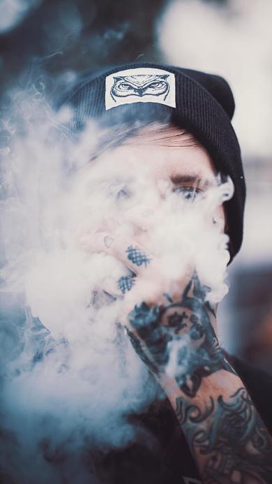 吸烟 香烟 烟雾 纹身 男 个性