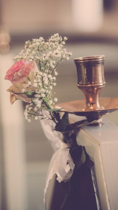 静物 景铜花 室内 玫瑰 满天星