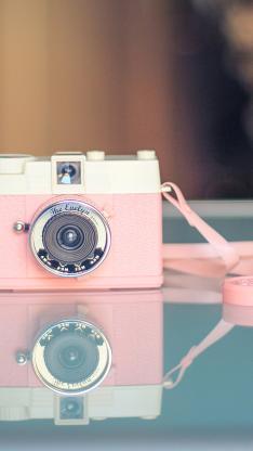 照相机 粉色 少女粉