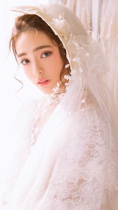 美女唯美婚纱写真 梦幻