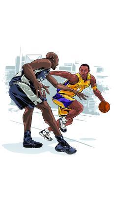 篮球 运动 NBA 手绘 卡通